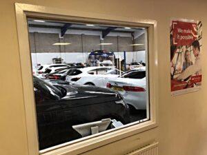 Car Service Viewing Window