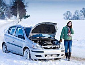 Car Broken Down Winter